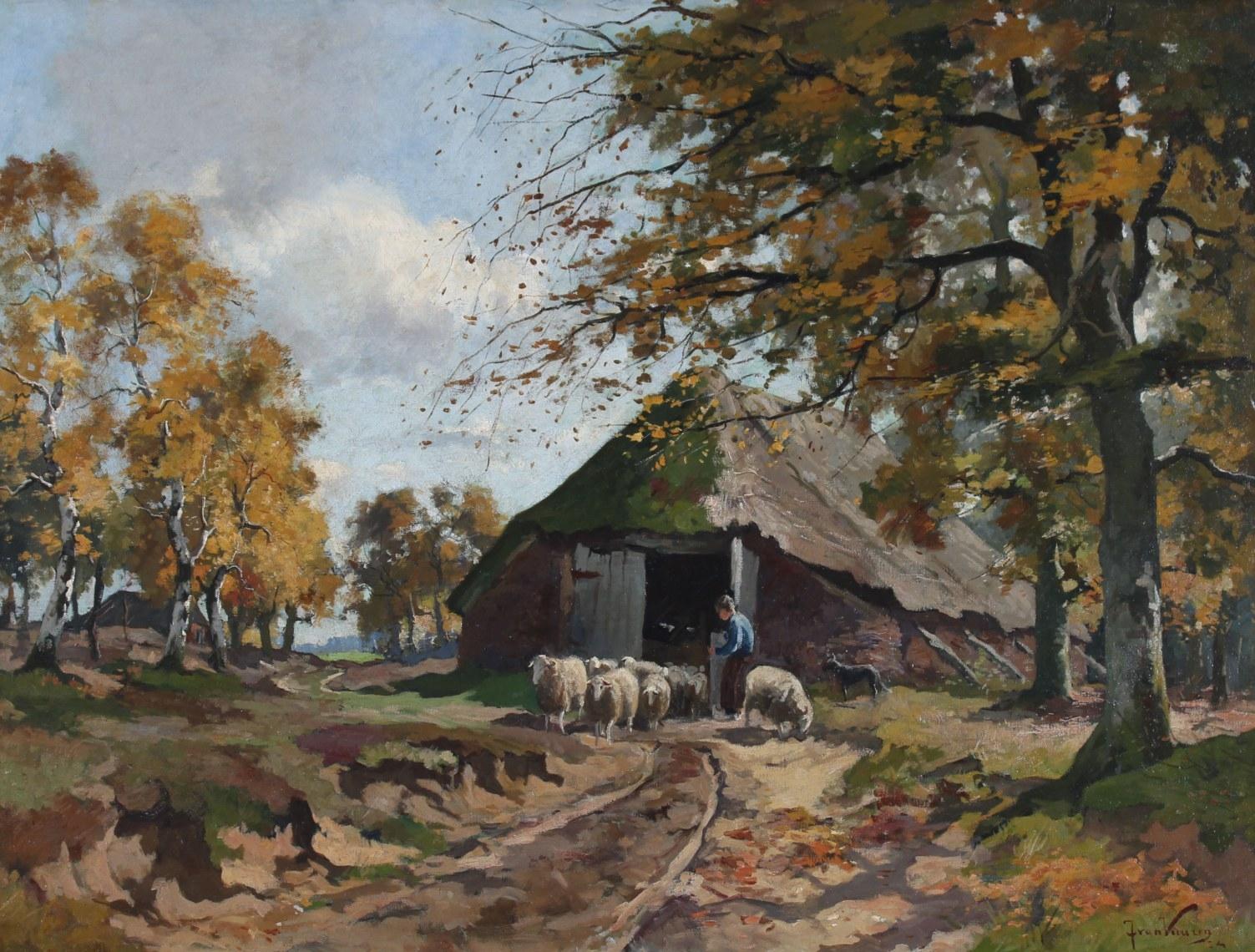 Schaapskooi door Jan van Vuuren
